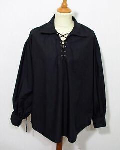 Herren Piraten Hemd mit Schnürung Größe M Gothic Mittelalter Vintage M614