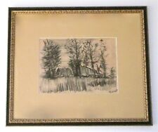 VINCENT VAN GOGH - AN 1880s ORIGINAL CHARCOAL CRAYON DRAWING, SIGNED, PROVENANCE