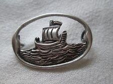 Amazing English Silver (Lyon Passant)Cut Out Boat Brooch