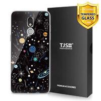 For LG Stylo 5, 5V, 5+ Plus, Phone Case TJS Juno Universe +Tempered Glass