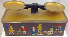 CRAWFORD SCALE  BRITISH BISCUIT TIN  c1925  CHILDREN'S TOY WEIGHING SCALES