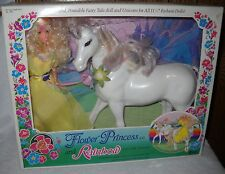 #6358 Ultra Rare NRFB Vintage Creata Flower Princess Leeanna & Rainbow Unicorn