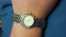 JJ ladies quartz two tone gold tone and steel watch crystal diamond look markers