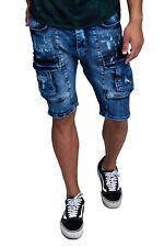 Herren Designer Jeans Short Kurze Hose Slim Fit Shorts Bermuda 3128 John Kayna