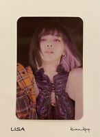 [LISA] BLACKPINK [THE ALBUM] PRE-ORDER OFFICIAL PHOTO CARD NEW GENUINE @YG