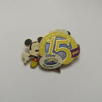 Disney DVC 15 Years Mickey Mouse Pin
