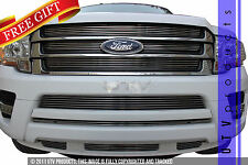 GTG 2015 - 2017 Ford Expedition 9PC Polished Billet Grille Grill Insert Kit