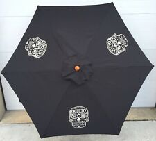 Oculto Skull Head 7' Umbrella Patio, Beach, Pool Tequila Barrel Staves New & F/S