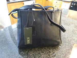 Jobis Leather Bag - Navy - J61007 - BRAND NEW