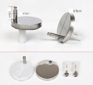 2 Universal WC Sitz Scharnier für Klo Befestigungsset Toilettendeckel Edelstahl