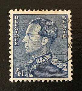 Belgium 1936-51 4f King Leopold III Definitive Blue Stamp