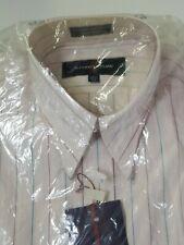 NEW ALEXANDER JULIAN MENS BUTTON UP DRESS SHIRT 15.5 34 Pink Stripe