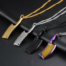 Personality Kitchen Knife Pendant Necklace Jewelry Charm Gift For Men 4 Colors