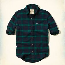 Hollister Men's Check Fitted Button Down Casual Shirts & Tops