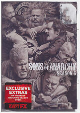 SONS OF ANARCHY SEASON 6 (DVD, 2014, 5-Disc Set,Slim Line Box) NEW