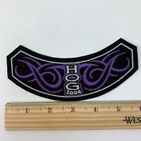 HOG Harley Owners Group 2004 Black Purple Tribal Rocker Patch