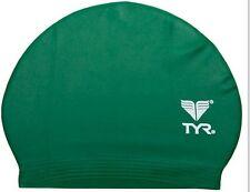 New Green TYR Latex Swim Cap