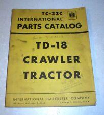 Tc 22c International Harvester Td 18 Crawler Tractor Parts Catalog Manual