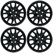 "4 PC SET Hub Cap ABS BLACK MATTE 14"" Inch for OEM Steel Wheel Cover Caps Covers"
