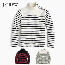 J. Crew Striped Button Shoulder Turtleneck Sweater Various Color & Size *NWT $55