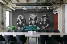Original wall deco Mural sticker meeting conference room inspiration monkeys