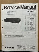 Original Service Manual for the Technics SL-P111 SL-P117 CD Player ~ Repair