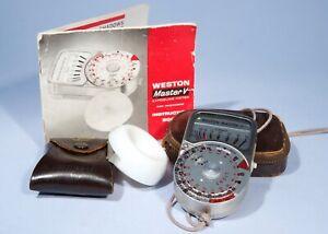 Weston Master V Exposure Light Meter + Invercone, Cases & Instructions * Working