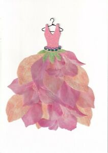 PAPYRUS MOTHERS DAY CARD NIP (MSRP $7.95) FLOWER DRESS CARD (P23)