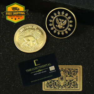 John Wick Continental Hotel Coin Cosplay Keanu Reeves Hotel Metal Alloy Coins