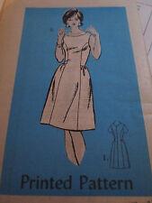 Vtg 1960's Anne Adams 4554 Mail Order Panel A-Line Dress/Tunic Pattern S 14