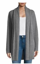 NWT Vince Open Front Cashmere Cardigan in Heathered Stone L $475
