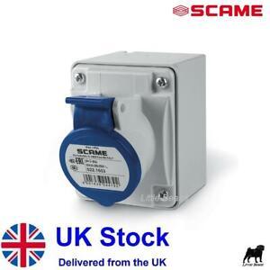 Garage Hook Up Socket 16A 240V Waterproof IP44 Caravan Motorhome Industrial SC50