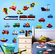 Car Ship Plane Truck Boat Bus Rocket Bike Train Removable Wall Sticker Boy Kids