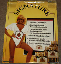 1986 Signature Stroh Beer Distributer Marketing 23x18 Poster