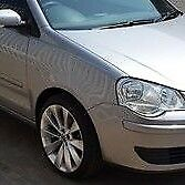 VW POLO 9N 2005-2009 NEW DRIVER SIDE WING FENDER PAINTED SILVER LA7W