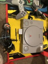 Playstation One 7502 With Leads And One Pad And Memory Card