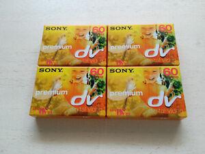 4x Sony Mini DV 60/90 Premium Kassette NEU und OVP