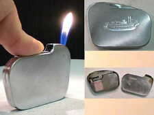 Briquet ancien Silver Match Ultra Plat Vintage Gas Lighter Feuerzeug Accendino