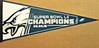 2018 PHILADELPHIA EAGLES Super Bowl LII 52 Champions Pennant U.S.A. Made (NEW)