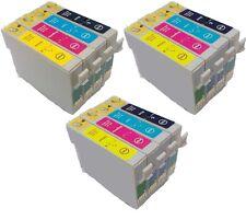 Ora inchiostro 12 Cartucce d'Inchiostro per Stampanti Epson t0611 t0612 t0613 t0614 t0615