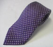 MOSCHINO 100%silk purple white floral print  mens necktie