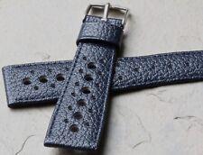Heuer Monaco 1133B blue Heuer Corfam 22mm original strap and Heuer buckle 3 sold