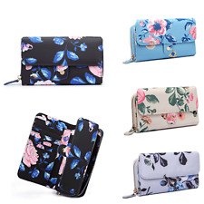 Stylish Ladies Girls Floral/Bird Print Folded Purse Wallet Holder Credit Card