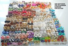 230pc Vintage EARRING lot, TRIFARI, VENDOME, MONET, AVON, HASKELL, Sarah COV