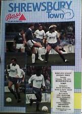 Shrewsbury Town V Huddersfield Town 90-91 de la Liga Match