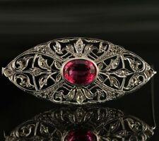 Diamond White Gold Brooch/Pin Edwardian Fine Jewellery
