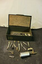 WWII 19 CODE KEY BOX Telegraph Code Key WITH ASSORTED PARTS