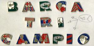 Pin pins FCB letras Barça Tri Campio  Sport football Barcelona