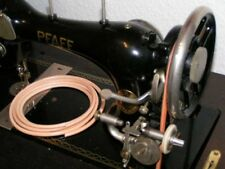 2 m Antriebsriemen, Lederriemen, 5 mm, mit Klammer für alte Nähmaschine!