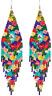 Long Beaded Tassel Earrings - Bohemian Fringe Drop Earrings Statement, Seed Bead
